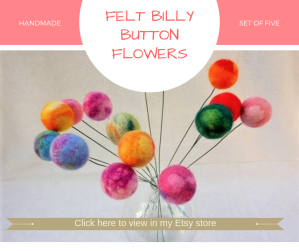 Handmade Felt Ball Flowers